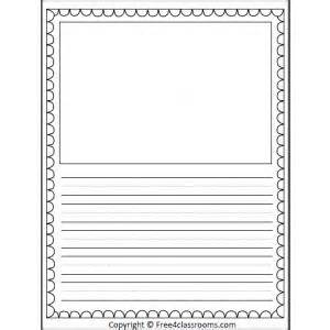 Half Template by Half Page Lined Writing Template