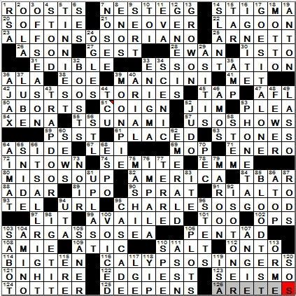 usa today crossword may 13 23 sep 12 los angeles times crossword solution