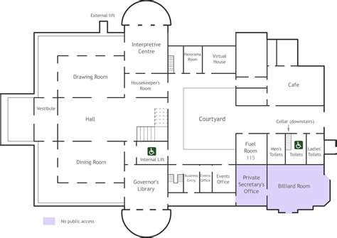 fllor plans qut old government house floorplan
