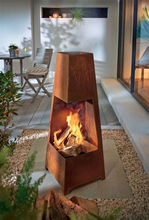 design feuerstelle feuerschale design garten feuerstelle my lovely home