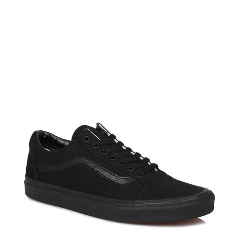mens black casual sneakers vans mens womens trainers canvas lace up school black