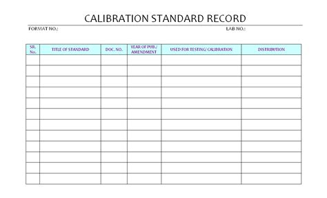 Download Thermometer Calibration Log Gantt Chart Excel Template Calibration Template Excel