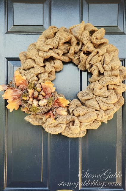 burlap wreath tutorial stonegable 131 best images about creative ideas on pinterest deco