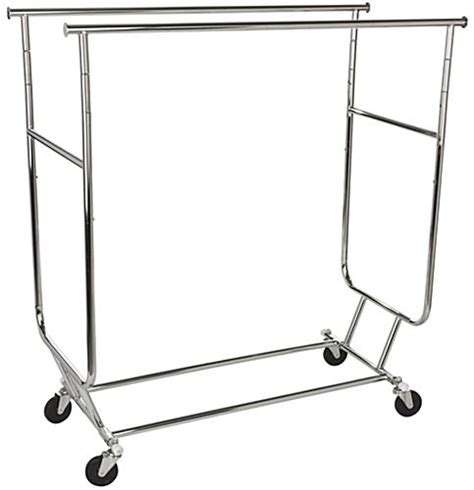 Clothes Racks On Wheels by Collapsible Garment Rack Dual Hang Rail Stand With Wheels