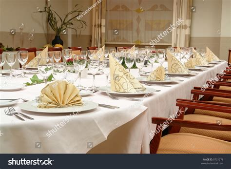 how to set up a dinner table table setting large dinner table set stock photo 5731273