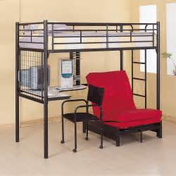 workstation loft bunk bed with futon chair desk