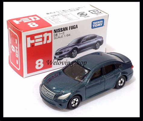 tomica nissan tomica 8 nissan fuga 1 64 tomy diecast car new ebay