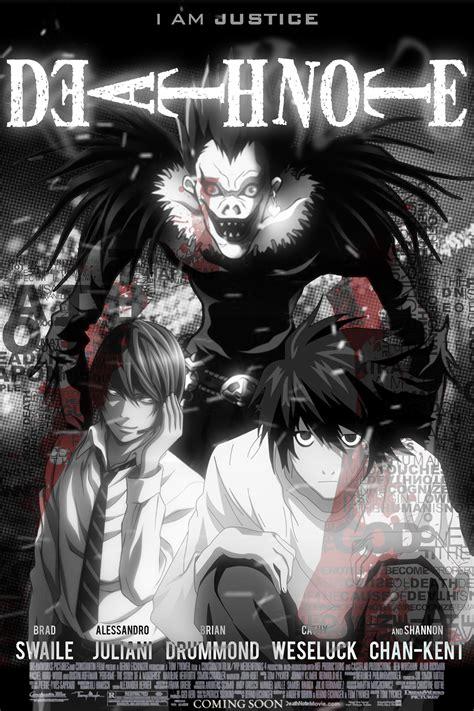 film anime death note death note movie poster by sicariusftw on deviantart