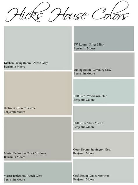 whole house color palette images