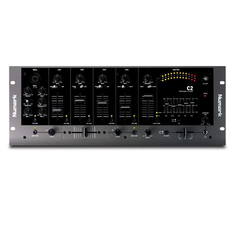 Mixer Equalizer numark c2 4 channel rack dj mixer with 5 band eq at