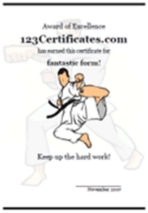 Free Printable Sports Certificates And Sports Awards Martial Arts Gift Certificate Template