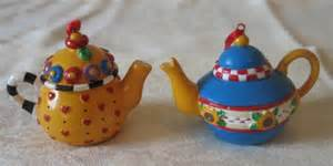 mary engelbreit teapot decorations or christmas ornaments