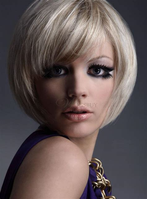 carefree hairstyles for women lovely carefree short bob hairstyle 100 human hair wig 8
