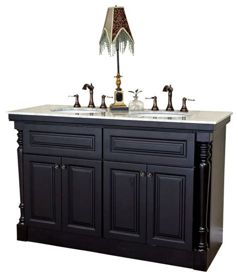Bellaterra 55 Quot Double Sink Vanity Dark Mahogany 55 Bathroom Vanity
