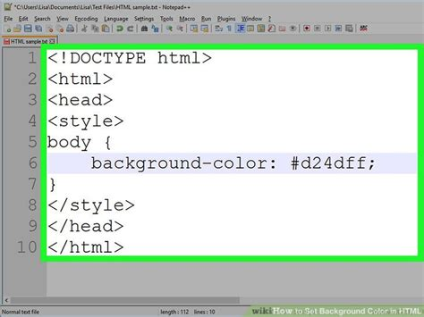 set background color html 4 ways to change background color in html wikihow
