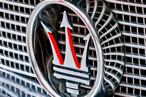 Maserati Emblem by 1957 Maserati Grille Emblem Photograph By Reger