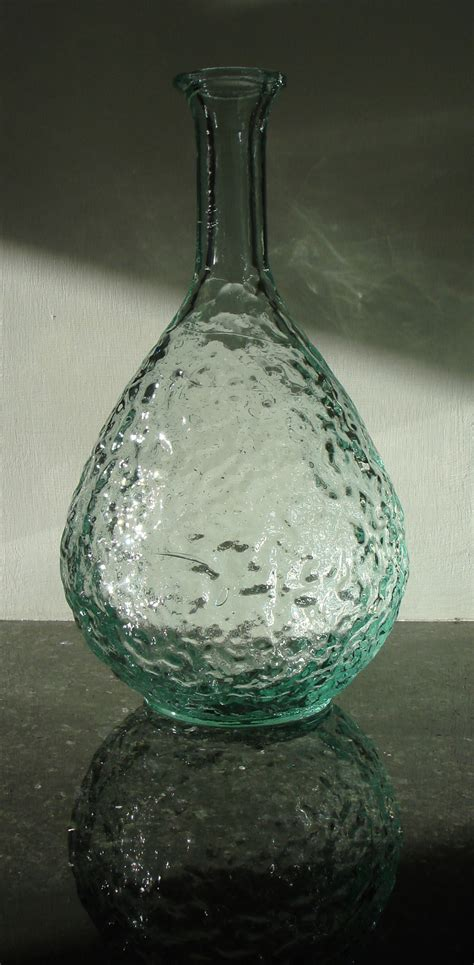 recycled glass recycled glass rustic stem vase simplicity