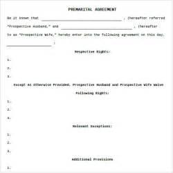 Prenuptial Agreements Templates sample prenuptial agreement 8 examples format