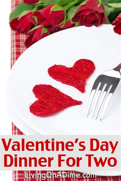 valentine s day dinner for two easy menu and recipes