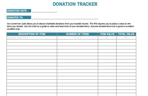 15 donation tracker templates free word excel pdf