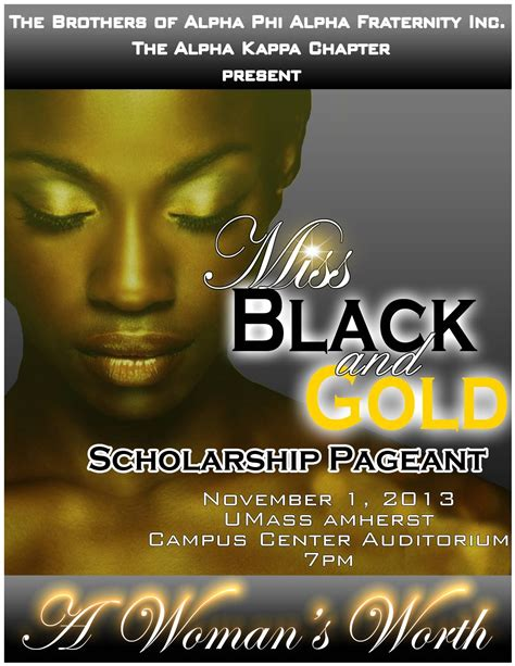 Miss Gold miss black and gold scholarship pageant