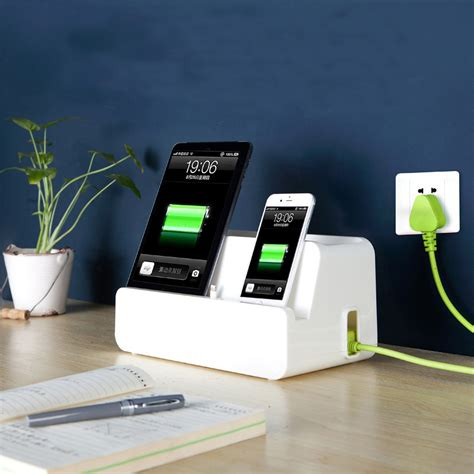 phone charging box new desk power cable socket boxes mobile phone charging