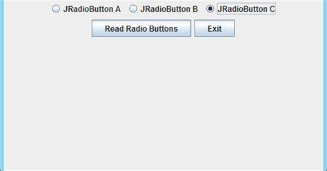 jradiobutton group exle in java swing java buddy exle of using swing buttongroup