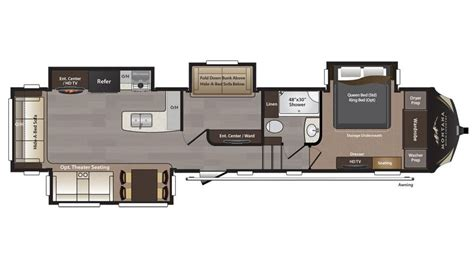 montana fifth wheel floor plans 2018 keystone montana high country 370br floor plan 5th wheel