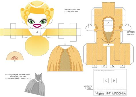 Papercraft Doll - madonna vogue mtv doll by j henrique on deviantart