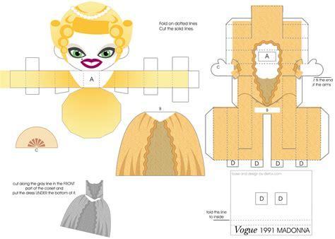 Papercraft Dolls - madonna vogue mtv doll by j henrique on deviantart