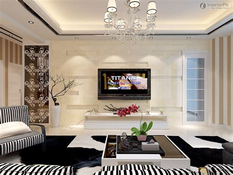 how to decorate new house new modern living room tv background wall design pictures