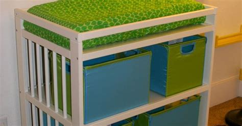 Changing Table Storage Bins Ikea Change Table With Teal And Green Collapsible Storage Bins Nursery Rooms For Boys