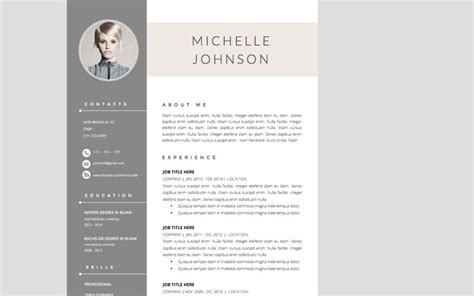 Best Resume Template Indesign by The Best Cv Amp Resume Templates 50 Examples Design Shack
