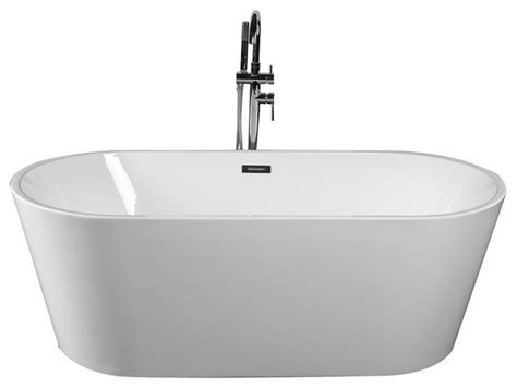 contemporary bathtubs freestanding empava 67 quot modern freestanding white acrylic bathtub