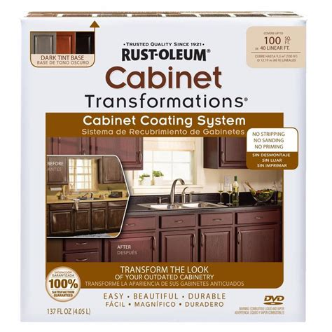 shop rust oleum cabinet transformations light base satin shop rust oleum cabinet transformations dark base satin