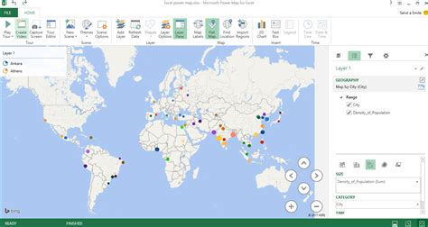 create beautiful map  power map  excel datascience