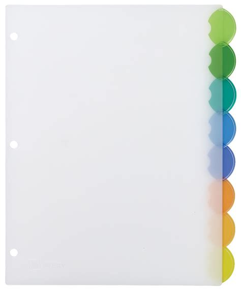 avery template 11201 avery insertable style edge plastic dividers 8 multicolor