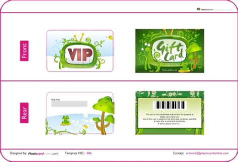 Plastic Cards Template by Free Ready Made Plastic Card Template