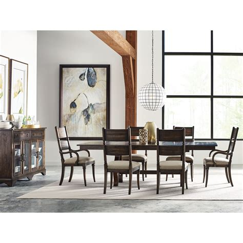kincaid dining room furniture kincaid furniture wildfire eight piece formal dining room