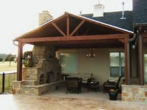 Patio Covers With Fireplace Pavilion Style Patio Cover Fireplace Outdoor