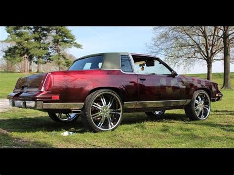 blacked out oldsmobile cutlass on 24 irocs 1987 cutlass on 24 s forest park car show
