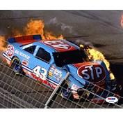 Richard Petty NASCAR Crash Signed 8x10 Photo Certified