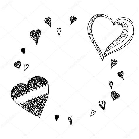 imagenes de corazones dibujados a mano marco corazones dibujados a mano archivo im 225 genes