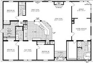 Four Bedroom Floor Plans 4 Bedroom Modular Homes Floor Plans Bedroom Mobile Home