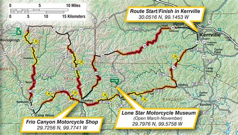 twisted texas map map of the three motorcycle route in the beautiful hill country of texas in the