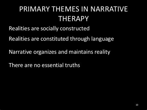 narrative pattern definition lecture 8 narrative therapy