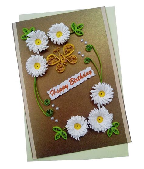 Handcrafted Creations - mishti creations handmade happy birthday greeting card