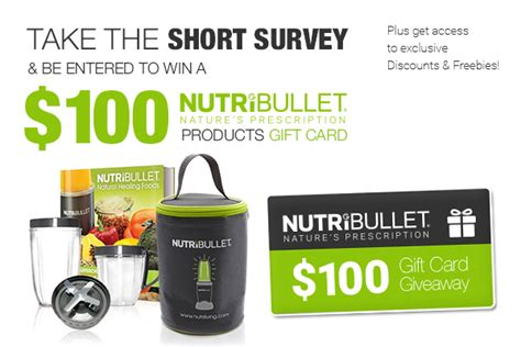 Survey Gift Card Rewards - 100 nutribullet gift card survey rewards expired freestuff com