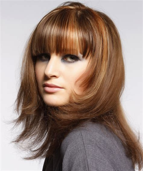 bangs are jagged and blunt medium straight formal hairstyle with blunt cut bangs