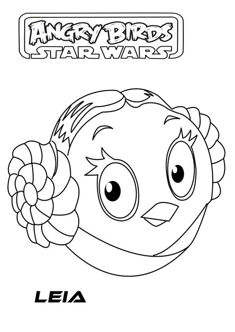 Angry Birds Starwars Free Colouring Pages Coloring Pages Angry Birds Wars